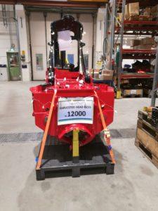 Outokummun Metalli Oy:n valmistama 12 000:s harvesteripää valmistui 18.12.2018 Outokummussa.