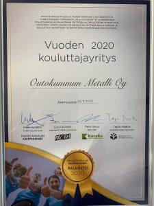 Kouluttajayritys2020_kunniakirja_OutokummunMetalli